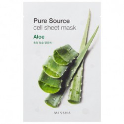 Missha Pure source cell sheet mask oma roheline tee ekstrakt 21gAlloy