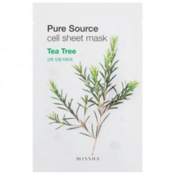 Missha Pure source cell sheet mask oma roheline tee ekstrakt 21gTeepuu