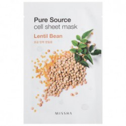 Missha Pure source cell sheet mask oma roheline tee ekstrakt 21gLäätsed