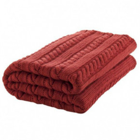 Nord Snow Classic Style Merino Wool Blanket - Red