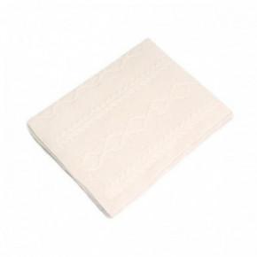 Nord Snow Baby Diamond Aran Style Merino Wool Blanket
