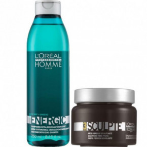 L'Oréal Professionnel Set: Homme Energic Shampoo And Hair Paste