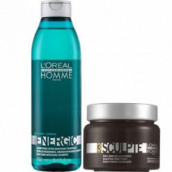 L'Oréal Professionnel Set: Homme Energic Shampoo And Hair Paste