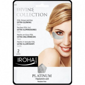 IROHA Divine Collection Extra Glowing Foil Tissue Patches With Platinum 2pcs