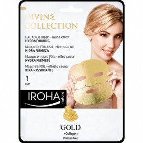 IROHA Divine Collection Hydra Firming Foil Tissue Mask With Gold 25ml