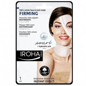 IROHA Face and Neck Firming Mask With Pearl And Hyaluronic Acid 23ml