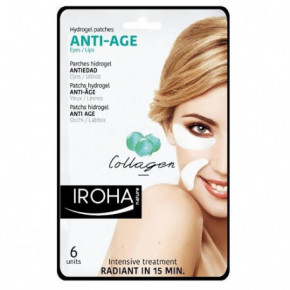 IROHA Eye & Lip Hydrogel Patches Anti-Age With Collagen 6 pcs