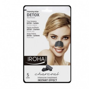 IROHA Black Charcoal Cleansing Nose Strips 5pcs