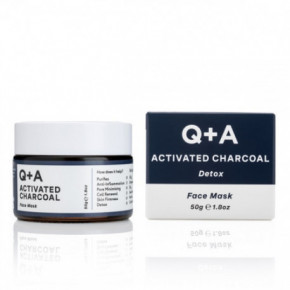 Q+A Activated Charcoal Detox Face Mask 50g